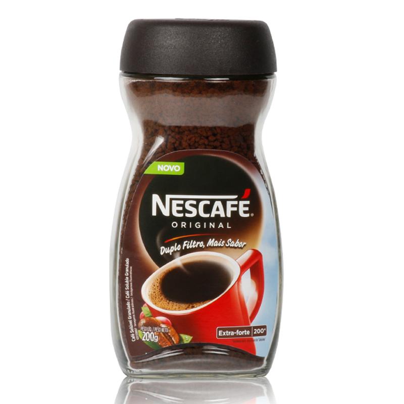 原味雀巢咖啡巴西进口醇品无糖速溶黑咖啡即溶纯咖啡烘焙瓶装200g