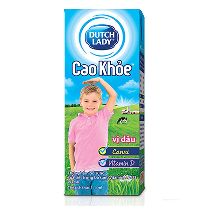 越南进口荷兰DUTCH LADY朵乐迪子母奶甜牛奶饮料4x170ml(草莓味)
