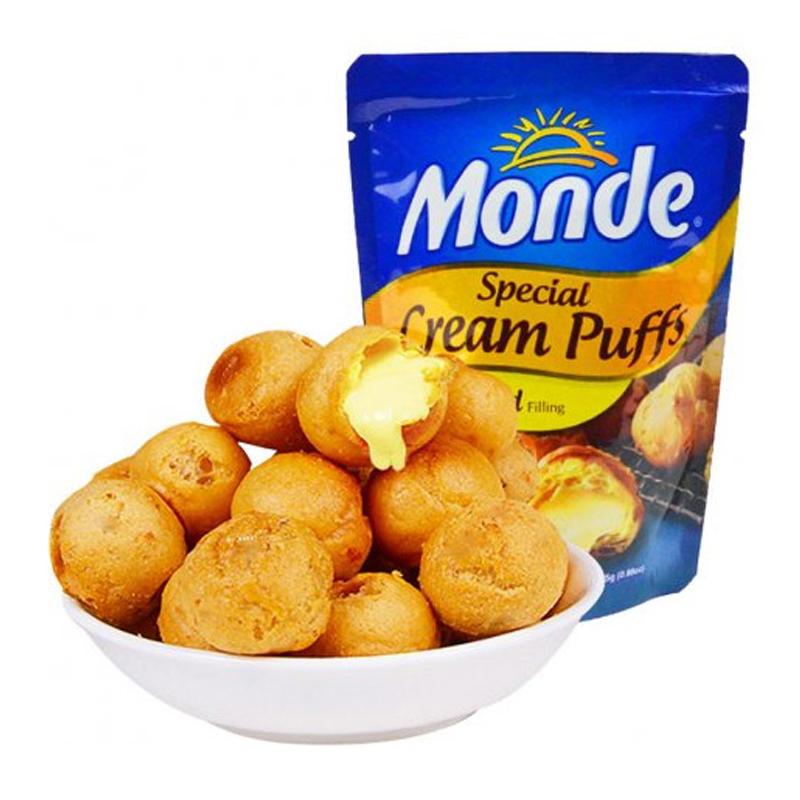 菲律宾进口道吉草奶油夹心泡芙球5包蛋糕面包甜点零食下午茶点心25g