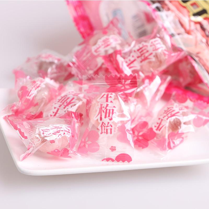 日本进口糖果ribon生梅糖110g理本生梅饴纪洲岛梅肉梅子夹心硬糖