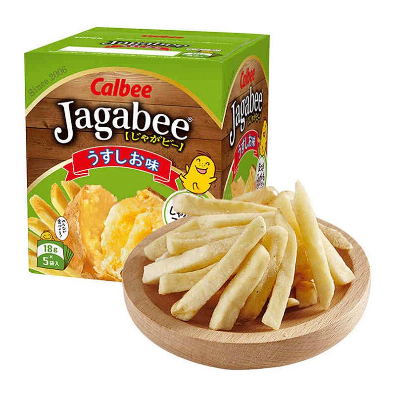 日本进口Calbee卡乐比北海道薯条三兄弟90g抖音休闲膨化小零食咸味网红商品