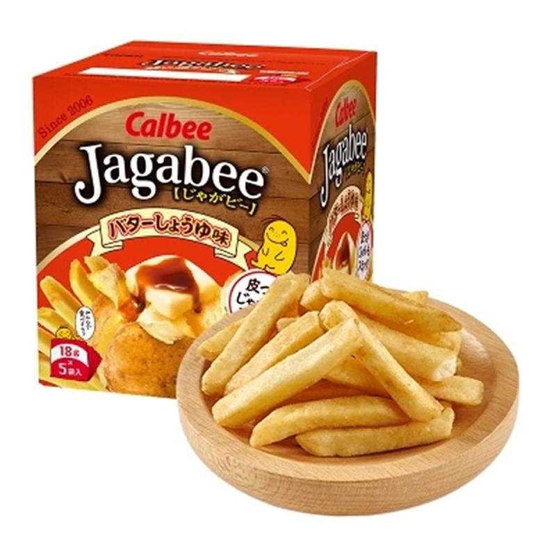 日本进口Calbee卡乐比北海道薯条三兄弟90g抖音休闲膨化小零食黄油酱油味网红商品