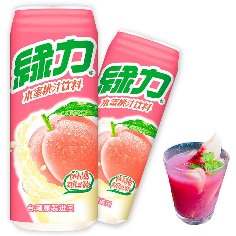 绿力台湾水蜜桃汁饮料490ml网红商品