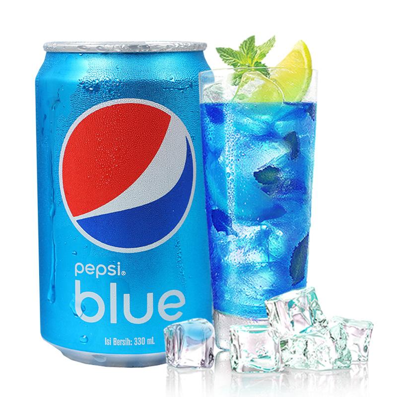 巴厘岛进口可乐蓝色梅子口味百事蓝色可罐装饮料汽水夏季饮料饮品350ml网红商品